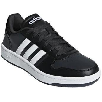 [在庫処分品につき返品交換不可] [adidas]アディダス メンズカジュアルシューズ ADIHOOPS 2.0 (B44699) コアブラック/ランニングホワイト/カーボン S18