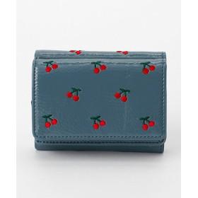 <Casselini/キャセリーニ> モチーフ刺繍ウォレット(184-110602) BLUE 【三越・伊勢丹/公式】