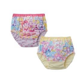 プリキュアオールスターズ 綿100%カラーショーツ2枚組(女の子 子供服) (キッズ下着)