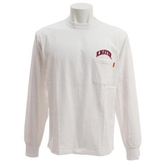 クリフメイヤー(KRIFF MAYER) 刺繍ロゴ 長袖Tシャツ 1847202-1-WHT (Men's)