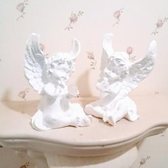 天使の囁き*アロマストーンお座りエンジェル*(クリスタルクォーツ)