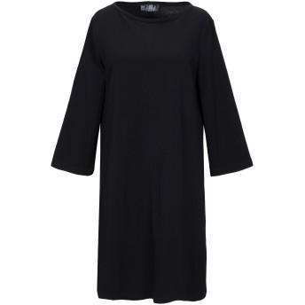 《期間限定セール開催中!》SATNE レディース ミニワンピース&ドレス ブラック S コットン 100% / プラスティック