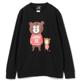 【SPECIAL PRICE】BEAMS T / Ivy Bears Crewneck Sweatshirt メンズ スウェット BLACK M