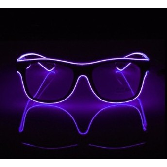 標準発光メガネワイヤーファッションネオン用ダンスパーティーバーグロースティックレイヴ雰囲気活性化明るいメガネの小道具