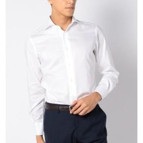 【シップス/SHIPS】 SD:【ALBINI社製生地】オックスフォード ホリゾンタルカラー シャツ(ホワイト)