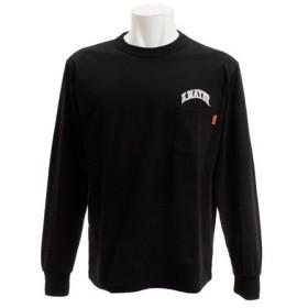 クリフメイヤー(KRIFF MAYER) 刺繍ロゴ 長袖Tシャツ 1847202-4-BLK (Men's)