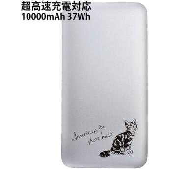 超高速充電対応モバイルバッテリー 10000mAh アメリカンショートヘアの刻印