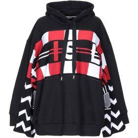 《セール開催中》STELLA McCARTNEY レディース スウェットシャツ ブラック 36 コットン 100% / バージンウール / ポリエステル