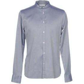 《期間限定セール開催中!》AGLINI メンズ シャツ ブルー 41 コットン 100%