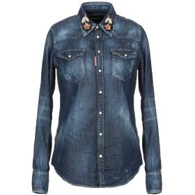 《期間限定 セール開催中》DSQUARED2 レディース デニムシャツ ブルー 38 コットン 98% / ポリウレタン 2%