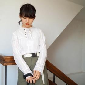 [マルイ] ハイネック長袖レースブラウス/179/WG(179 WG)