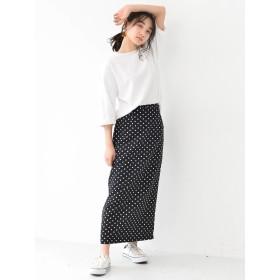 【5,000円以上お買物で送料無料】ドットタイトスカート