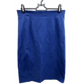 【中古】マカフィー MACPHEE トゥモローランド スカート タイト ミモレ ロング 36 青 ブルー /AKK36 レディース