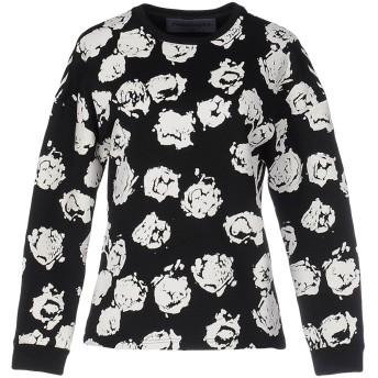 《セール開催中》EMANUEL UNGARO レディース スウェットシャツ ブラック 46 コットン 100%