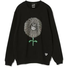 【SPECIAL PRICE】BEAMS T / FLOWER Crewneck Sweatshirt メンズ スウェット BLACK L
