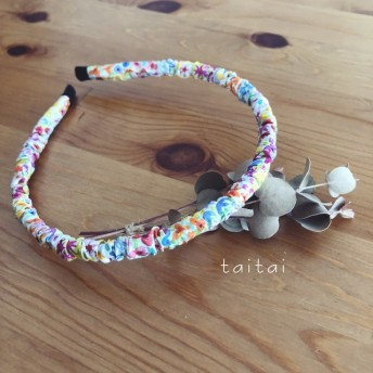 LIBERTY simple hair band 《Poppys Meadow 》