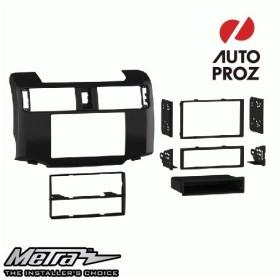 METRA 正規品 トヨタ 4ランナー 2010年以降現行 シングルDIN/ダブルDIN オーディオ取り付けキット/ダッシュキット ハイグロスチャコール