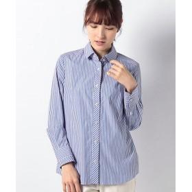 <LA JOCONDE> 【洗える】マルチストライプシャツ ネービーブルー 【三越・伊勢丹/公式】