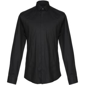 《期間限定セール開催中!》LES HOMMES メンズ シャツ ブラック 48 コットン 96% / ポリウレタン 4%