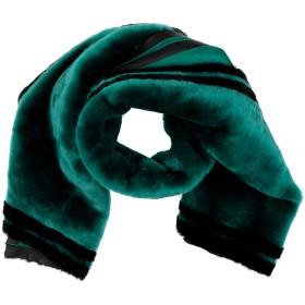 《期間限定セール開催中!》ROCHAS レディース マフラー グリーン 羊革(ラムスキン) 100% / リアルファー