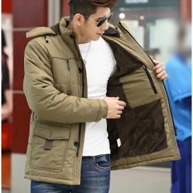 ダウンジャケット ダウンコート メンズ コート ブルゾン アウター 大きいサイズ カジュアル フード付き マルチポケット シンプル 防風 暖かい 秋冬物