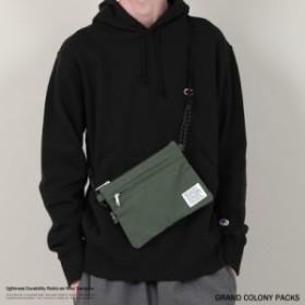 サコッシュ 鞄 ミニバッグ ボディバッグ ショルダー メンズ 肩掛け 斜め掛け 軽量 GRAND COLONY PACKS GCP-000-184001 8680