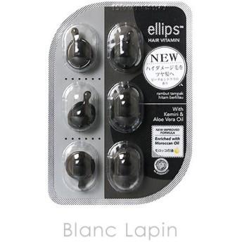 エリップス ellips ヘアビタミンシャイニーブラック ピーチ&シトラスの香り 6粒 [200045]【メール便可】