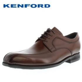 ケンフォード ビジネスシューズ KENFORD KN22 AB ブラウン メンズ スワールトゥ 外羽根式 4E 紳士靴 本革 日本製