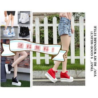 春靴★超美脚 厚底靴/韓国ファッション/ブーツ/Bigbang同型 スニーカー/エアスニーカー ランニングシューズ キャンバス ハイカットスニーカー 白いスニーカー 厚底 可愛い靴