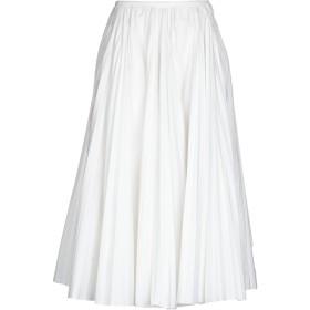 《セール開催中》ROCHAS レディース 7分丈スカート ホワイト 40 コットン 96% / ポリウレタン 4%