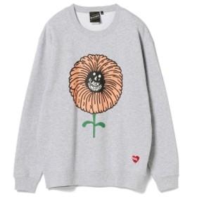【SPECIAL PRICE】BEAMS T / FLOWER Crewneck Sweatshirt メンズ スウェット GREY M