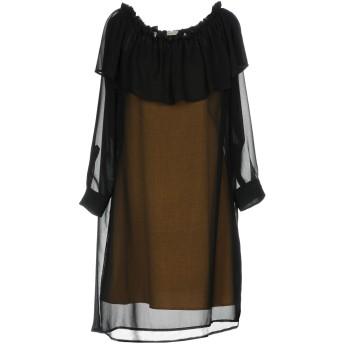 《セール開催中》GOLD CASE レディース ミニワンピース&ドレス ブラック 40 ポリエステル 100%