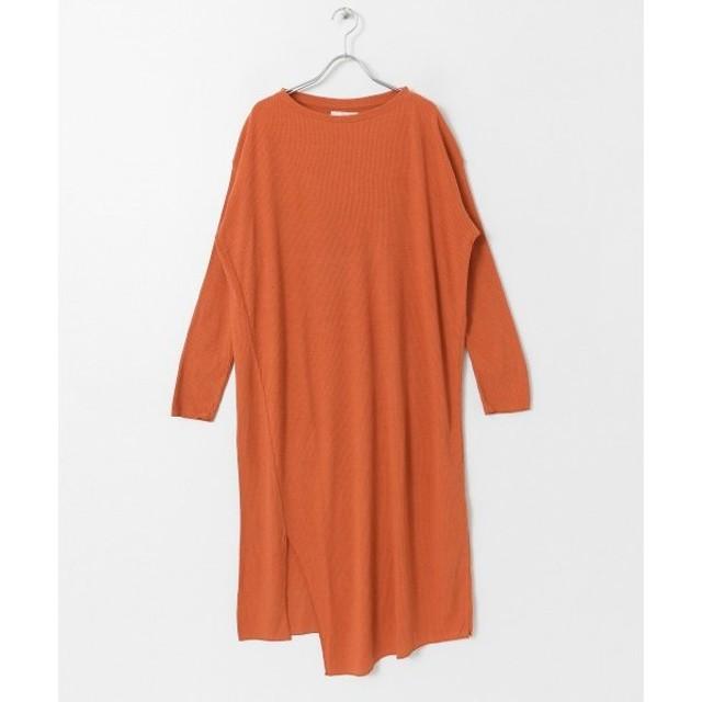 URBAN RESEARCH DOORS / アーバンリサーチ ドアーズ unfil raw silk ribbed-jersey dress