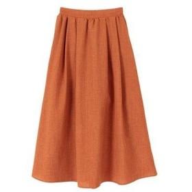 ティティベイト titivate タックギャザーロングスカート (ダークオレンジ)