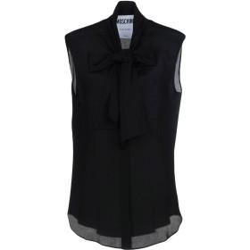 《9/20まで! 限定セール開催中》MOSCHINO レディース シャツ ブラック 38 100% シルク