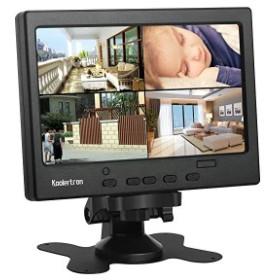 7インチ 液晶モニター1080p HDMI カメラ監視用/DSLR / PC / CCTVカメラ/ DVD /ホームオフィス監視のためのHDMI / VGA / AVポー ...