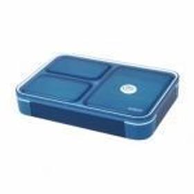 薄型弁当箱フードマン600ml クリアダークブルー
