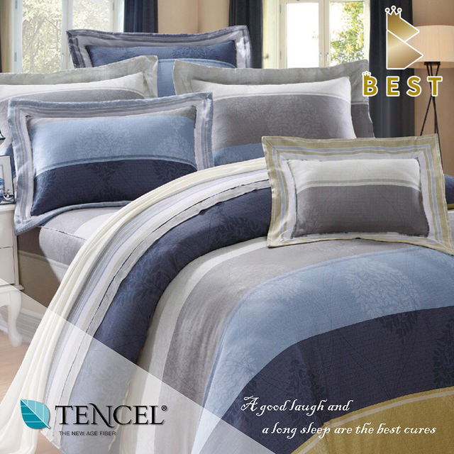 【特惠純天然】索斯7件式天絲鋪棉床罩組