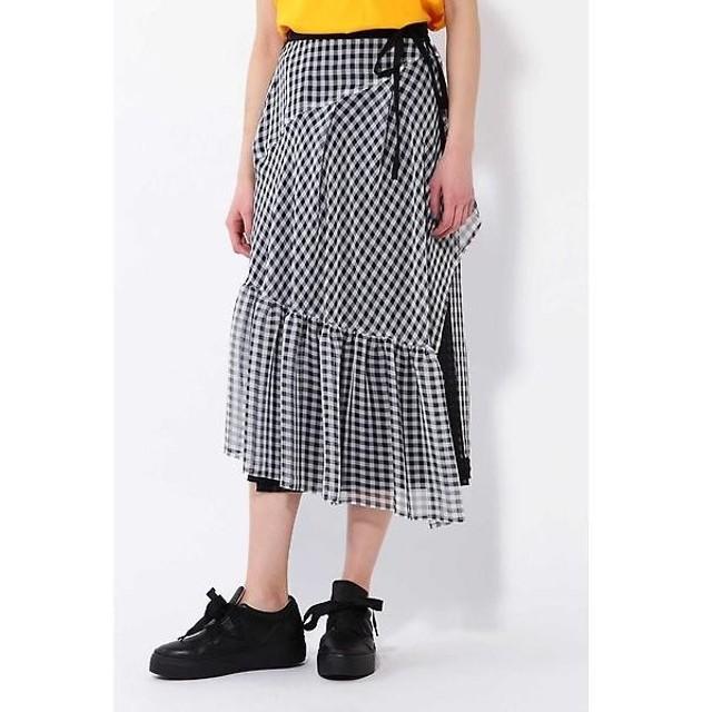 ROSE BUD / ローズ バッド ギンガムチェックレイヤードスカート