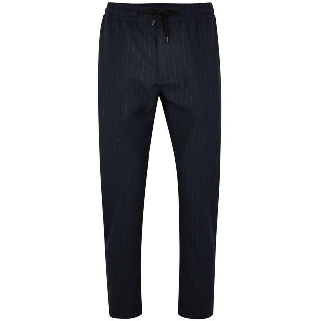 《期間限定 セール開催中》TOPMAN メンズ パンツ ダークブルー 28W-32L ポリエステル 66% / レーヨン 31% / ポリウレタン 3% Navy Skinny Stripe Trousers