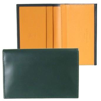 エッティンガー 名刺入れ カードケース メンズ マイナーチェンジモデル BH143J GREEN グリーン 名入れ可有料 ※名入れ別売り