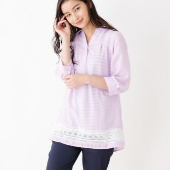 [マルイ]【セール】【2点セット】裾はしごレーススキッパーシャツ+タンクトップ/シューラルー(レディス)(SHOOLARUE Ladies)