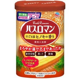 【A】 アース製薬 バスロマン にごり浴 ヒノキの香り (600g)