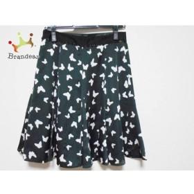 ジャスグリッティー JUSGLITTY スカート サイズ「2」 レディース 黒×白 蝶   スペシャル特価 20190527
