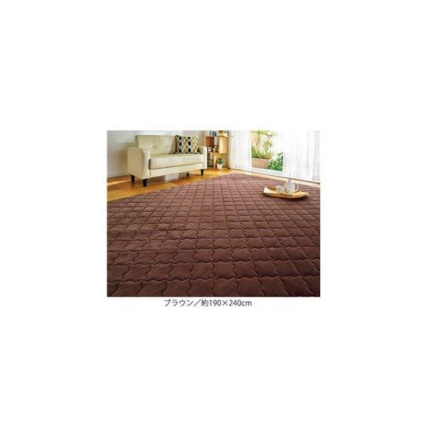 【北欧風 ラグマット/絨毯 [185cm×185cm グリーン] 正方形 日本製 折りたたみ 防ダニ 抗菌 オールシーズン対応 『ボルグ』】