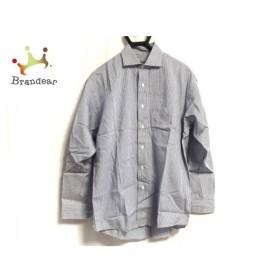 ケンゾー KENZO 長袖シャツ サイズ2 M メンズ 白×ネイビー チェック柄   スペシャル特価 20190921