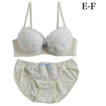 パリシェ palissee 【EFカップ】Classy lace3/4モールドカップブラ&ショーツ (クリーム)【返品不可商品】
