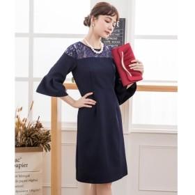 [マルイ] オフショルダー風レースパーティードレス/ドレススター(DRESS STAR)