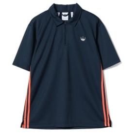 adidas / メッシュ ポロシャツ メンズ ポロシャツ カレッジネイビー/ホワイト J/L