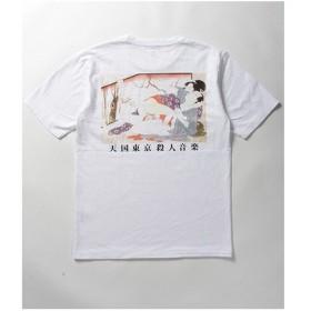 WACKOMARIA(ワコマリア)|WASHED HEAVY WEIGHT CREW NECK T-SHIRT ( TYPE-6 ) ヘビーウェイト 春画 Tシャツ WHITE